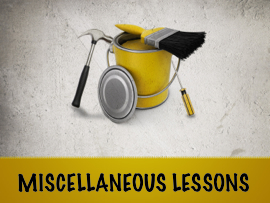 Miscellaneous Lessons
